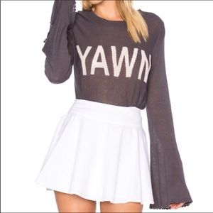 "Wildfox ""YAWN"" Blyth Sweater—Clean Black"